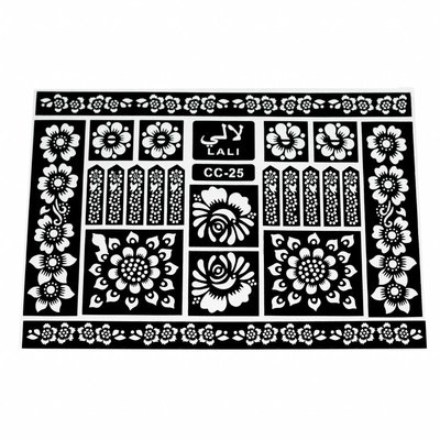 Self-Adhesive Henna Stencils For Tattoos Maxiset (38cm x 27cm)