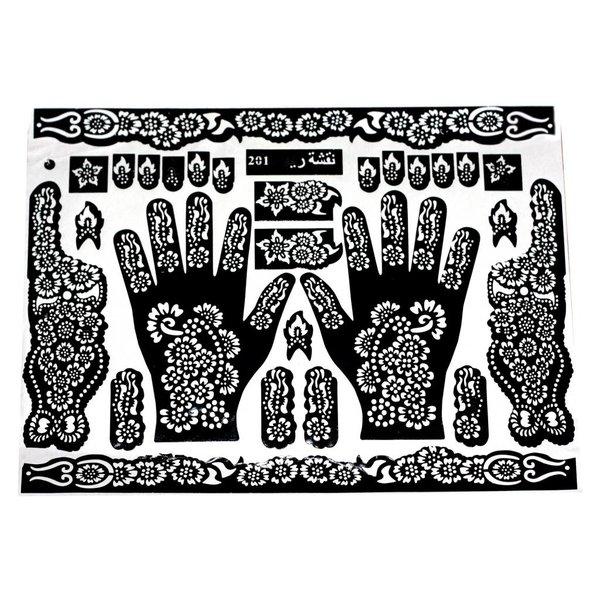 Self-Adhesive Henna Stencils For Tattoos Maxiset (38cm x 27cm)