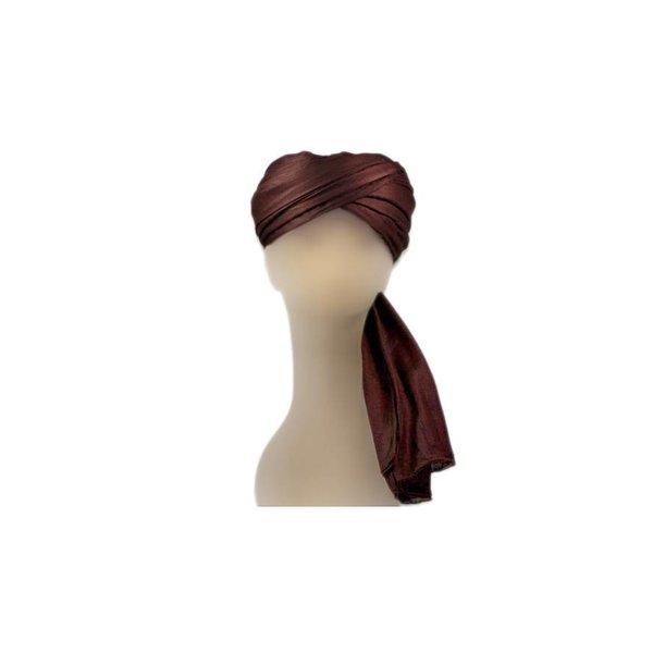 Turban-Tuch Imama in Braun zum Binden aus reiner Baumwolle