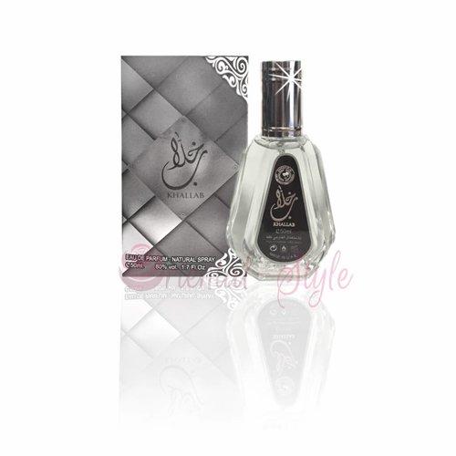 Ard Al Zaafaran Perfumes  Khallab Silver Eau de Parfum 50ml Al Rehab Vaporisateur/Spray