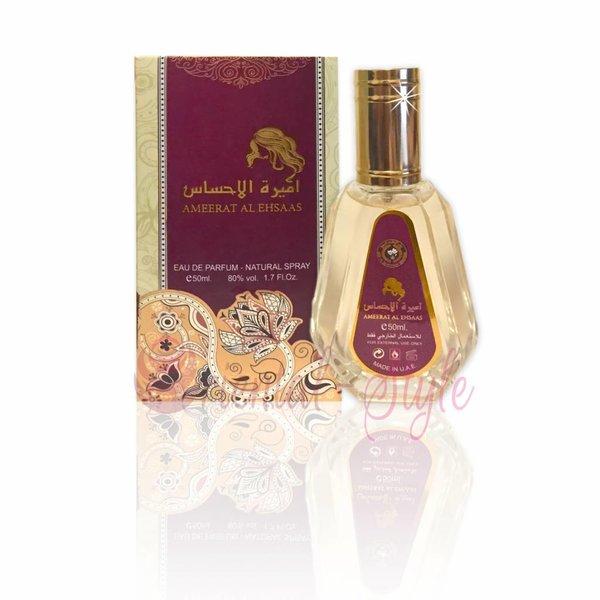 Ard Al Zaafaran Perfumes  Ameerat Al Ehsaas Eau de Parfum 50ml by Al Rehab Vaporisateur/Spray
