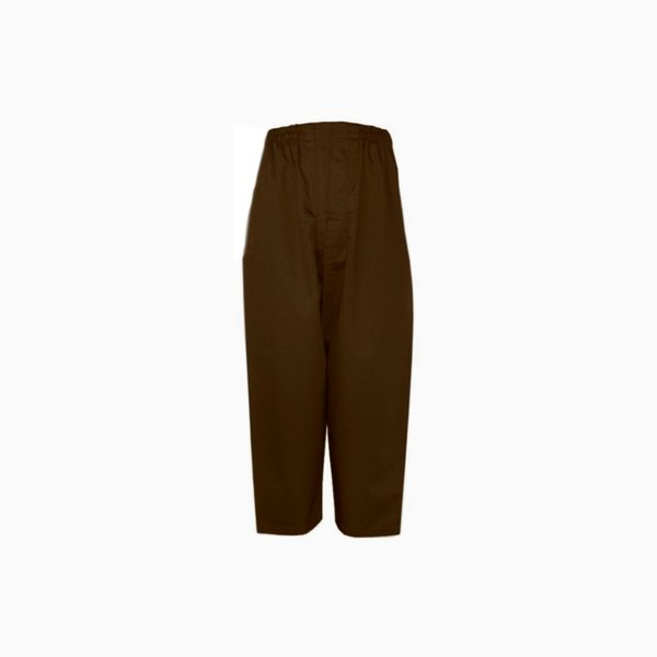 Comfortable and loose-fitting Islamic Sunnah pants in dark brown