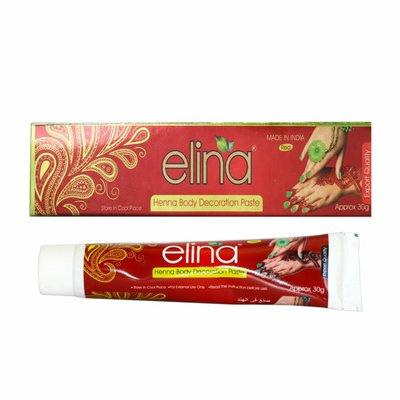Elina - Rote Henna-Paste für Hennatattoos (30g)