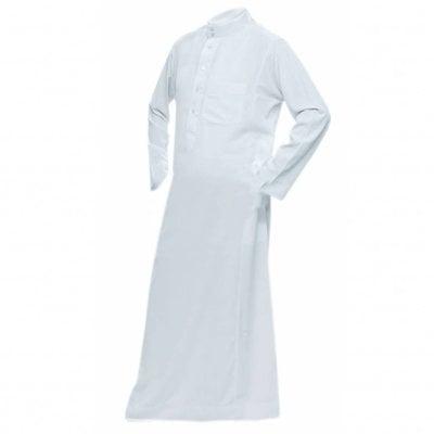 Arabic Galabiya Jubbah in White By Al Haramain