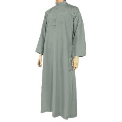 Al Haramain Arabische Jalabiya Djellabia Kaftan Für Männer In Graublau