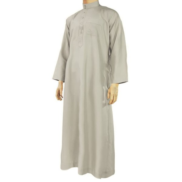 Arabic Galabiya Jubbah Thobe in Grey By Al Haramain