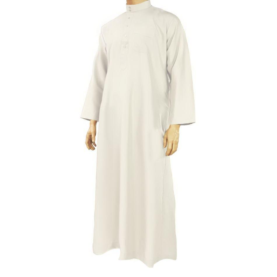 Al Haramain Arabische Jalabiya Djellabia Kaftan Für Männer In Creme