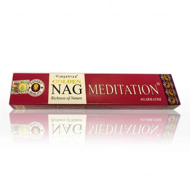 Incense sticks Vijayshree Golden Nag Meditation (15g)