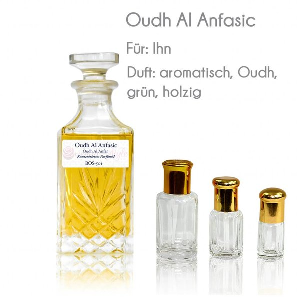 Anfar Perfume oil Oudh Al Anfasic - Perfume free from alcohol