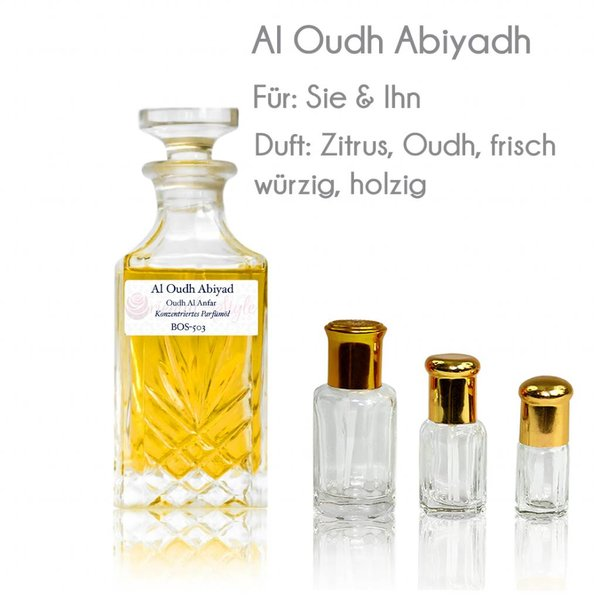 Anfar Perfume oil Al Oudh Abiyad - Perfume free from alcohol