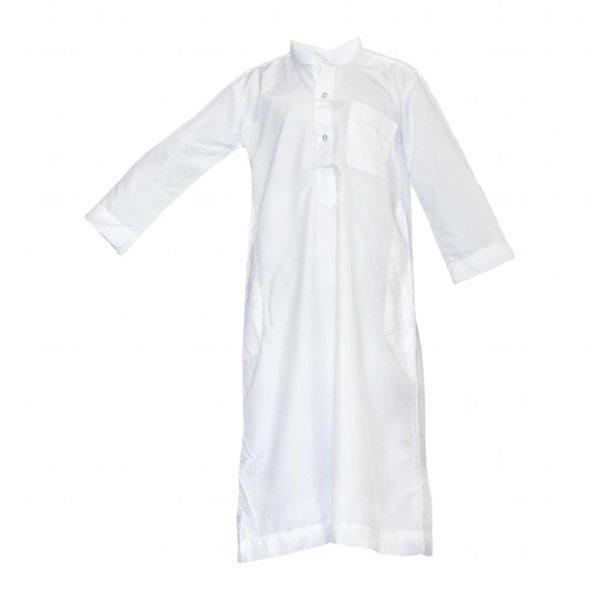 Children Kaftan, Jubbah, Galabiyah For Boys In White