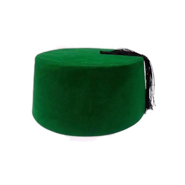 Fez Hat In Green - Tarboush, Fes, Oriental Headgear Cap
