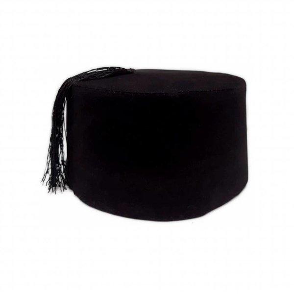 Fez Hat In Black - Tarboush, Fes, Oriental Headgear Cap