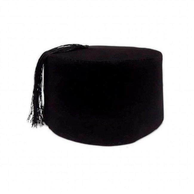 Fez cap hat in black
