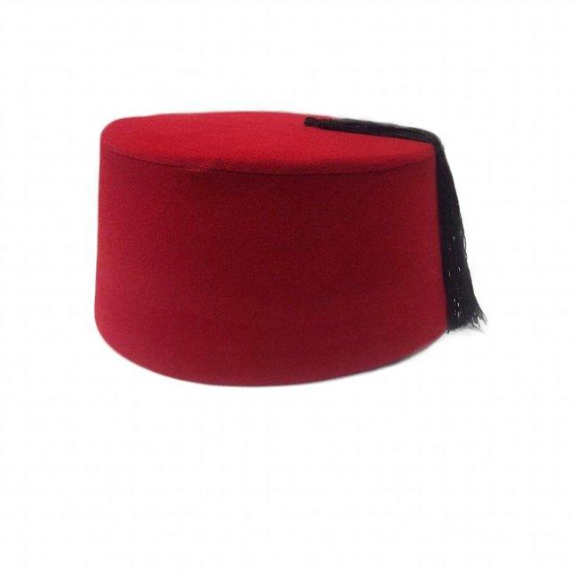 Fez cap hat in red