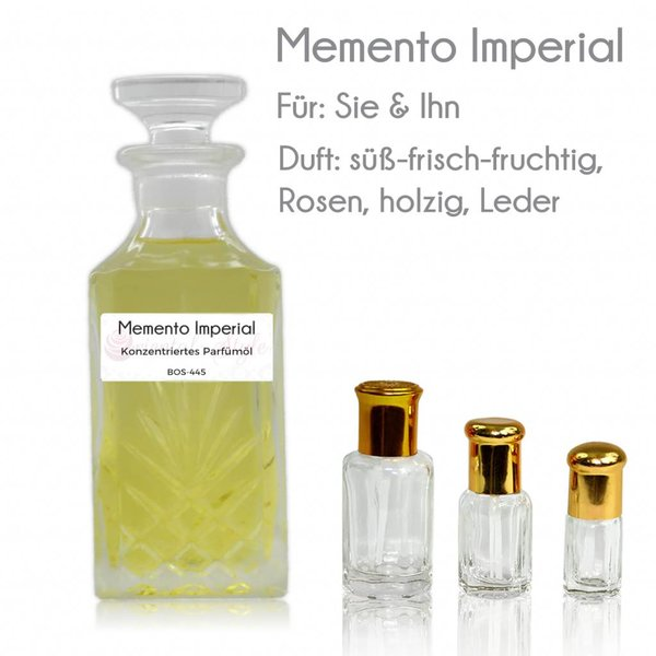 Oriental-Style Parfümöl Memento Imperial - Parfüm ohne Alkohol