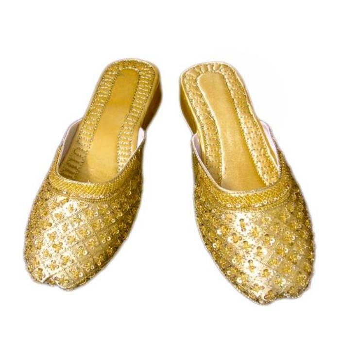 Indische Schuhe - Pantoletten aus Leder