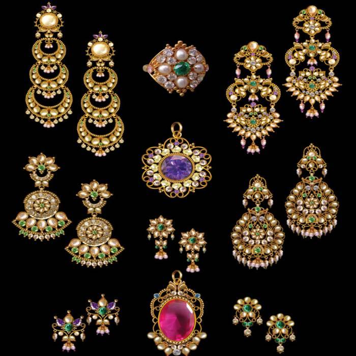 Orientalische Indische Ohrringe