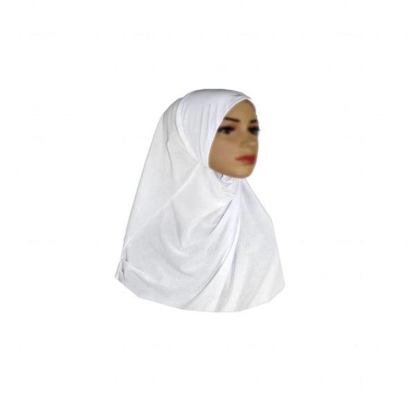 Amira Hijab Kopftuch - Weiss - Klein