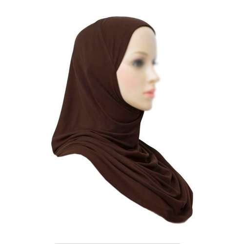 Amira Hijab Scarf Dark Brown