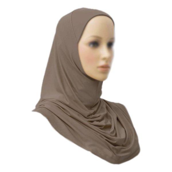 Amira Hijab Kopftuch - Hellbraun