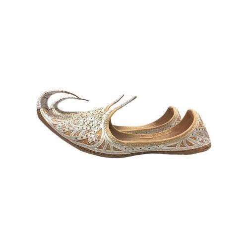 Indische Khussa Schuhe Silber