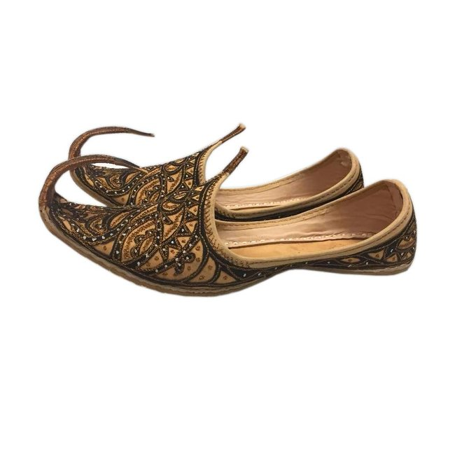 Indian Khussa Shoes In Brown-Black