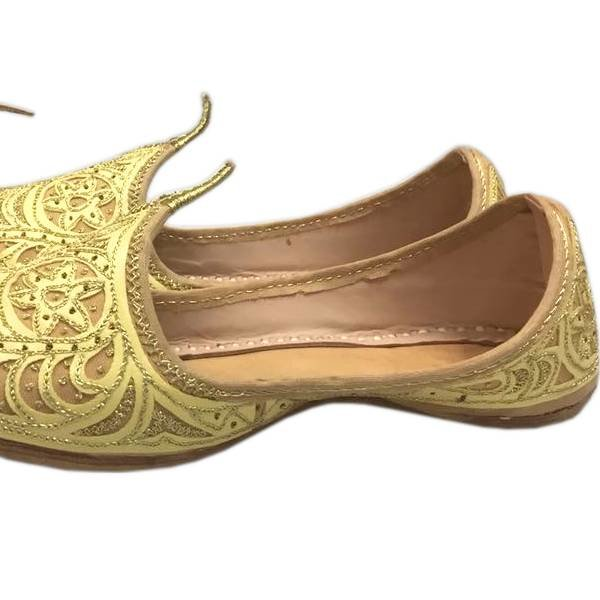 Indian Beak Shoes - Oriental Khussa In Gold