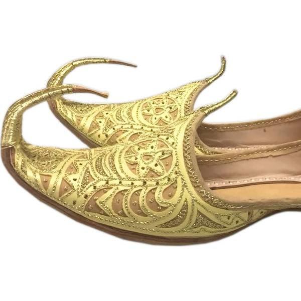 Orientalische Schnabelschuhe - Khussa Schuhe in Gold