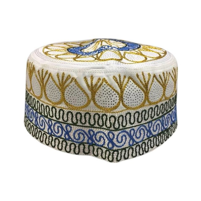 African cap with embroidery