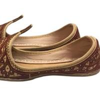 Orientalische Schnabelschuhe - Khussa Schuhe In Braun