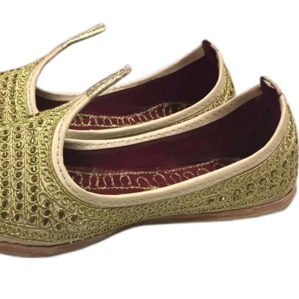 Indian Beak Shoes - Oriental Khussa In Gold