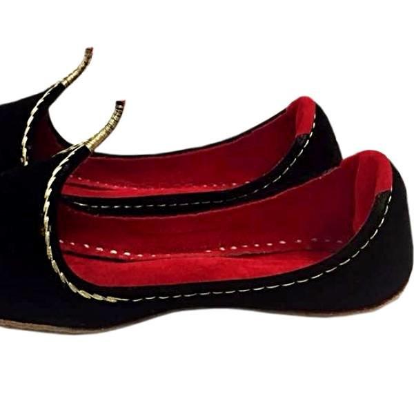 Orientalische Schnabelschuhe - Khussa Schuhe In Schwarz