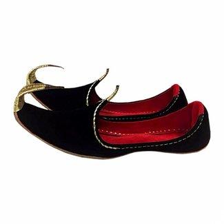 Indische Khussa Schuhe Schwarz