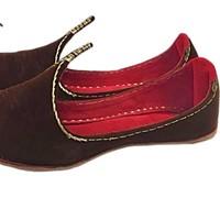 Indian Beak Shoes - Oriental Khussa In Brown-Gold
