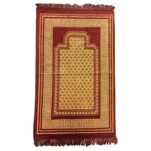 Prayer Mat Seccade in Burgundy Red