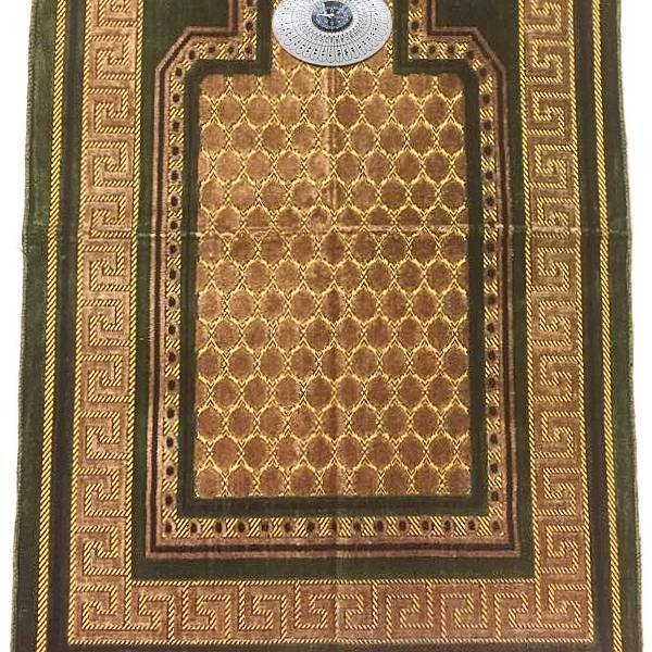Prayer rug - Seccade With Compass In Green