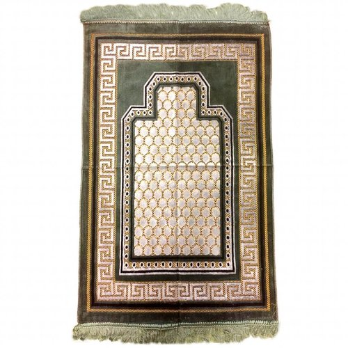 Prayer Mat Seccade in Olive Green