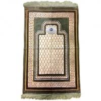 Gebetsteppich - Seccade in Olivegrün mit Kompass