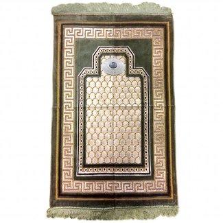 Gebetsteppich mit Kompass - Olivegrün
