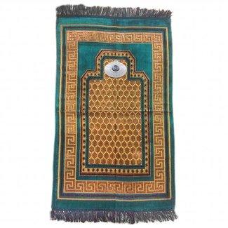 Gebetsteppich mit Kompass - Türkisblau