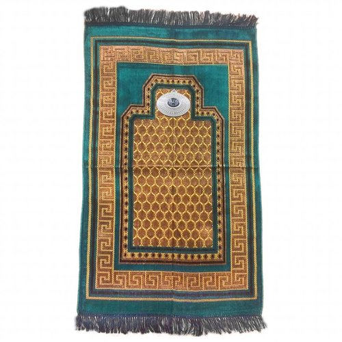 Prayer Mat with Compass - Turquoise Blue
