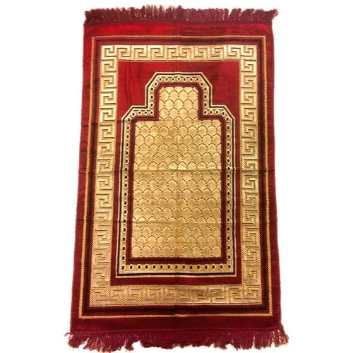 Prayer Mat Seccade in Dark Red
