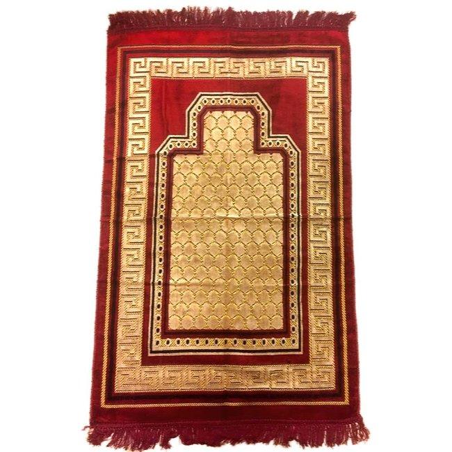 Prayer Mat Seccade in Dark Red