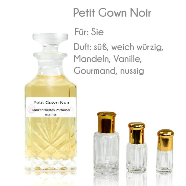 Oriental-Style Perfume oil Petit Gown Noir - Perfume free from alcohol