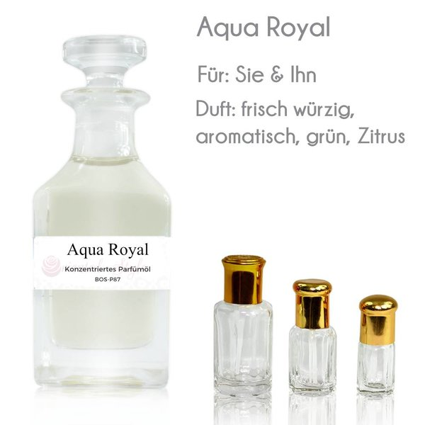 Oriental-Style Concentrated perfume oil Aqua Royal Perfume Free From alcohol