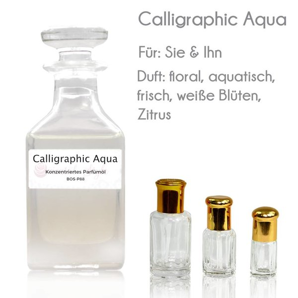Oriental-Style Concentrated perfume oil Calligraphic Aqua Perfume Free From alcohol