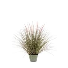 Pennisetum gras in zinken pot L kunstplant
