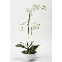 Orchidee in witte schaal kunstplant