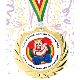 Medaille carnaval goud-zilver-brons 70mm